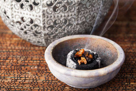 rites: Myrrh is an aromatic resin, used for religious rites, incense and perfumes Stock Photo