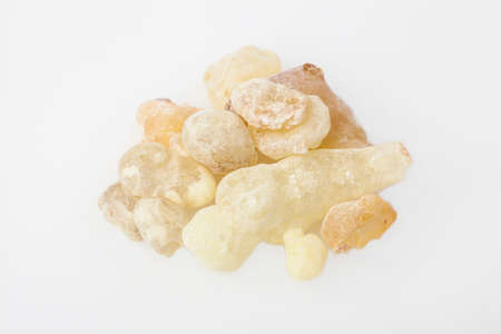 High Quality Frankincense resin from Oman, isolated on  the white background Stock Photo
