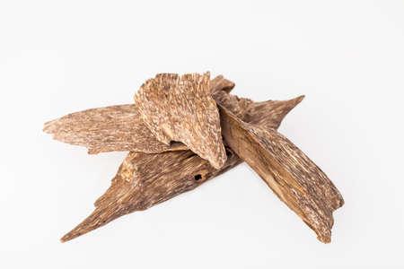 Agarwood, ook aloeswood, oudh, wierookchips genoemd Stockfoto