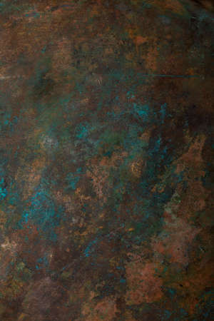 Background image of scratched antique copper vessel surface texture