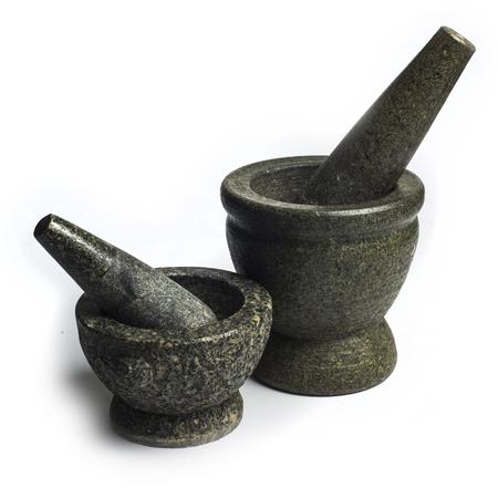 mortero: Stone Mortar Foto de archivo
