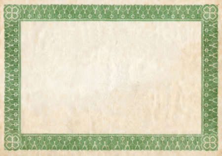fancy border: Old certificado frontera