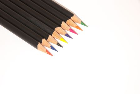 Pencil Crayons Banque d'images
