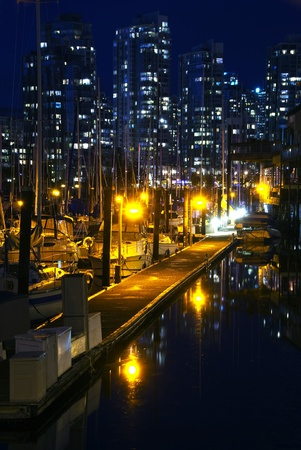 A fine evening at False Creek, Vancouver, British Columbia.  Stock Photo
