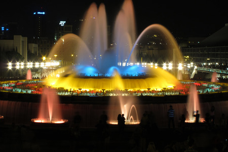 editorial image from a Barcelona, The Magic Fountain Redakční