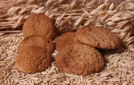 Oatmeal cookies. photo