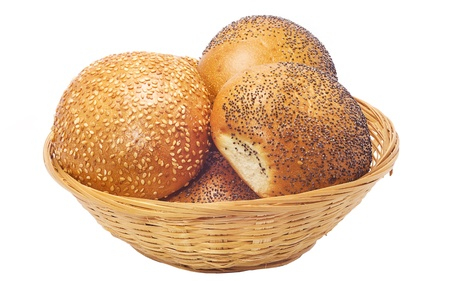 buns with sesame and poppy seeds  photo