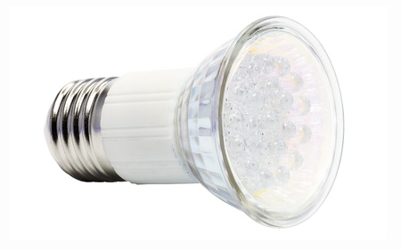 led lamp: Energy-saving LED bulb Stock Photo
