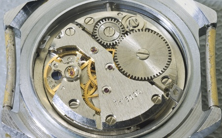 mechanism of old wristwatches photo