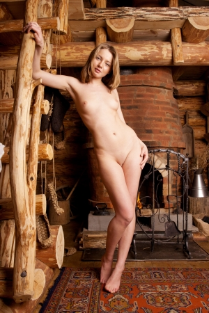 Beautiful blonde in a farmhouse  Stock Photo - 17381151