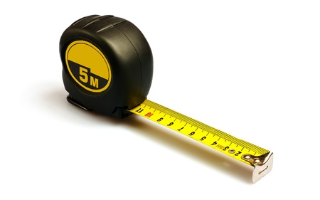 Tape measure. Isolated on white.