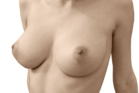 bare breasts: Nude boobs  Bare breasts of a young woman
