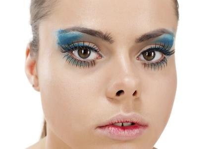 glitter makeup: Maquillaje de Ojos hermosos Glitter Maquillaje Holiday Makeup detalle False Lashes