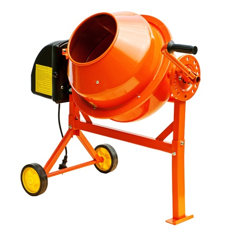 Concrete mixer isolated on a white background