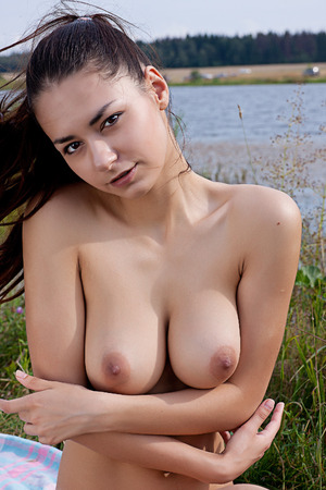 bare breasts: Pretty woman   Portrait of a naked girl