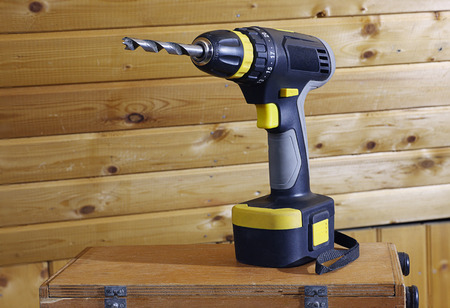 furniture hardware: Hand Tools. Screwdriver. Cordless Drill. Stock Photo