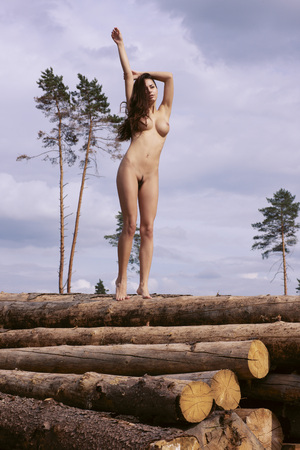 naked woman: Nude girl . Portrait of a naked woman.