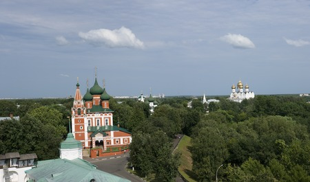 history building: Yaroslavl. View from the bell tower.
