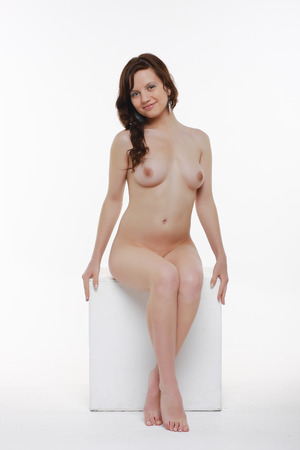 nude babe: Nude girl . Portrait of a naked woman.