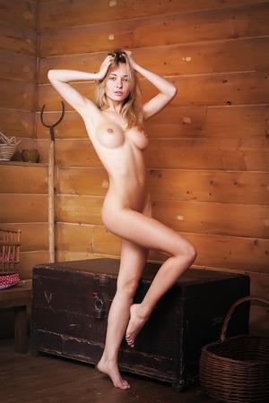 nude young: Портрет обнаженной деревенской красоты. Фото со стока