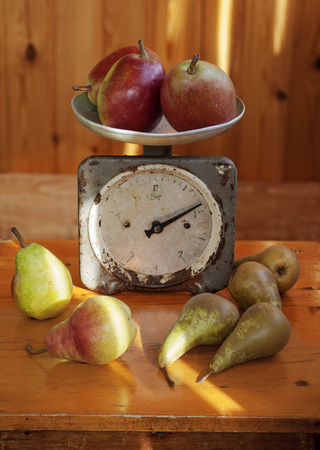 pears on the old scales.