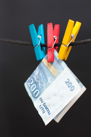 money laundering: Money laundering of Lithuania Litas Stock Photo
