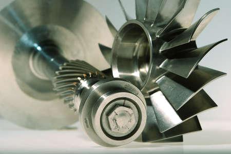 engineered: precision engineered turbines Stock Photo