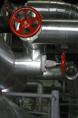 red valve stainless steel pipes