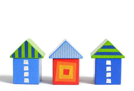 wood block house Stock Photo