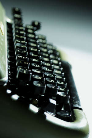 closeup of old typewriter photo