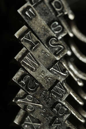 closeup of old typewriter photo