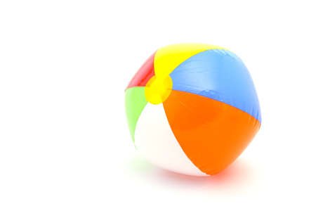 beach ball on white background photo