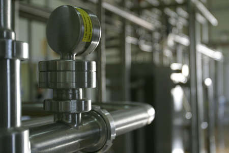 industrial stainless steel pipe work and valve