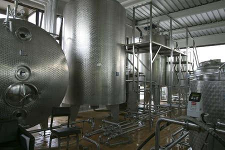 sterilized: industrial liquid storage tanks