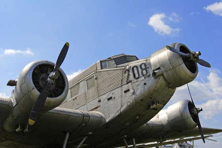 abandoned Junkers JU 52 aircraft