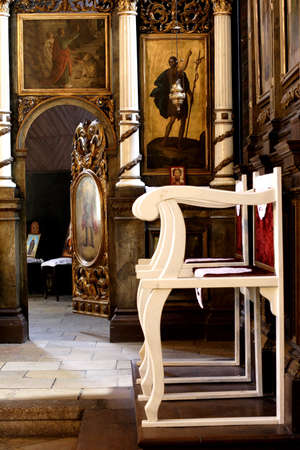 coptic orthodox: interior oforthodox christian church