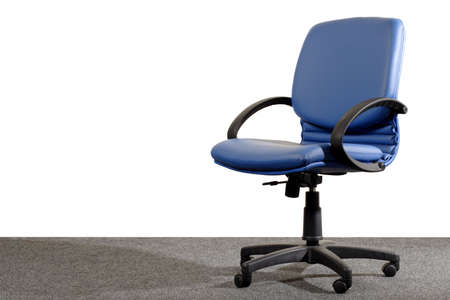 movable: blue office chair