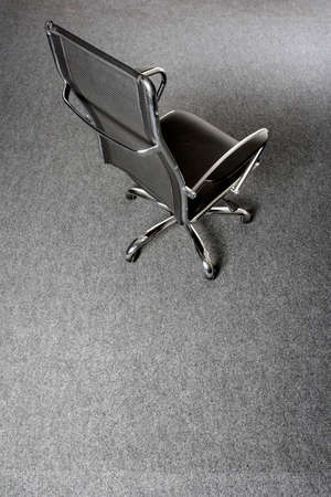 black and chrome office chair photo