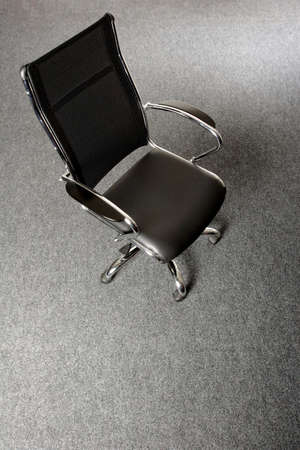 ofis koltuğu: black and chrome office chair