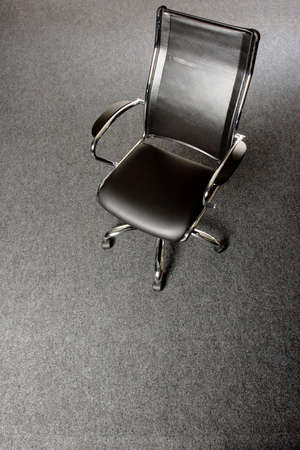movable: black and chrome office chair