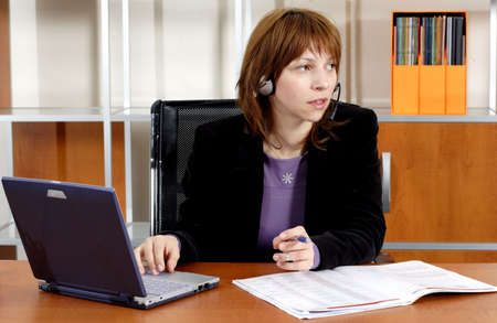 working business woman photo