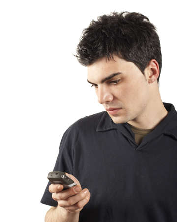 young man cell phone Stock Photo - 381049