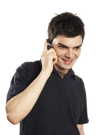 young man cell phone