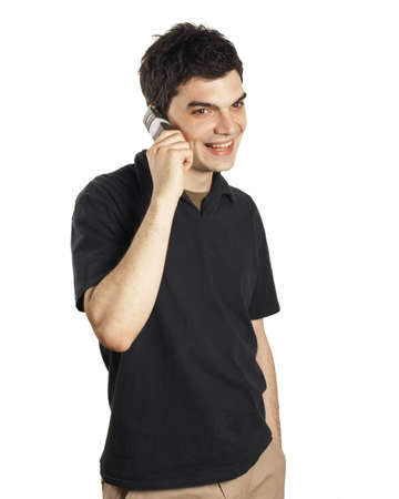 young man cell phone Stock Photo - 381036