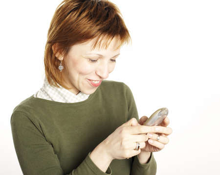 young woman cell phone