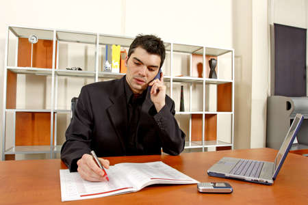 businessman at desk Stock Photo - 380983