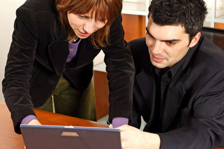 man and woman business meeting Stock Photo - 380963