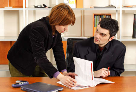 man and woman business meeting Stock Photo