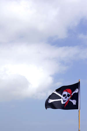 pirate flag blue sky Stock Photo - 438606