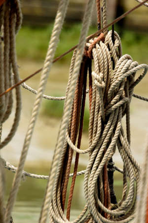 detail from thames sailing barge photo